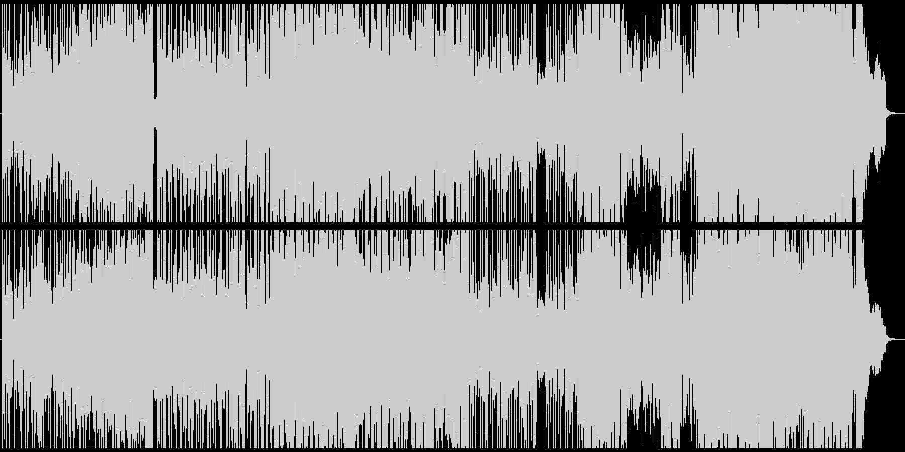 怪しいピアノフレーズが印象的な曲の未再生の波形