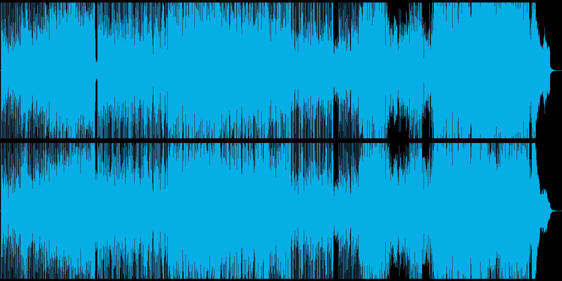 怪しいピアノフレーズが印象的な曲の再生済みの波形