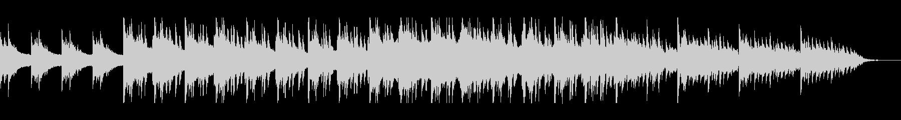 幻想的なピアノのヒーリング曲の未再生の波形