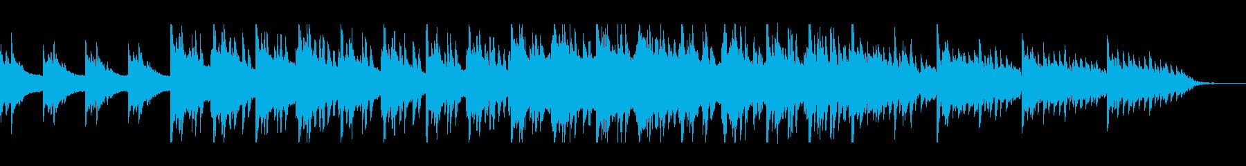 幻想的なピアノのヒーリング曲の再生済みの波形
