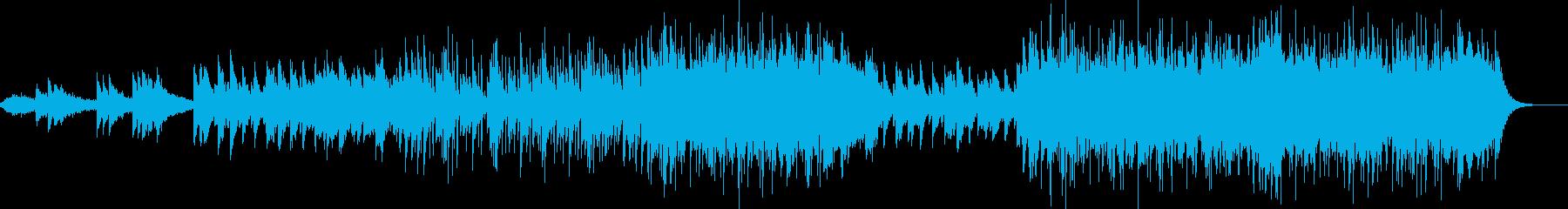 シンプルなピアノバラードの再生済みの波形