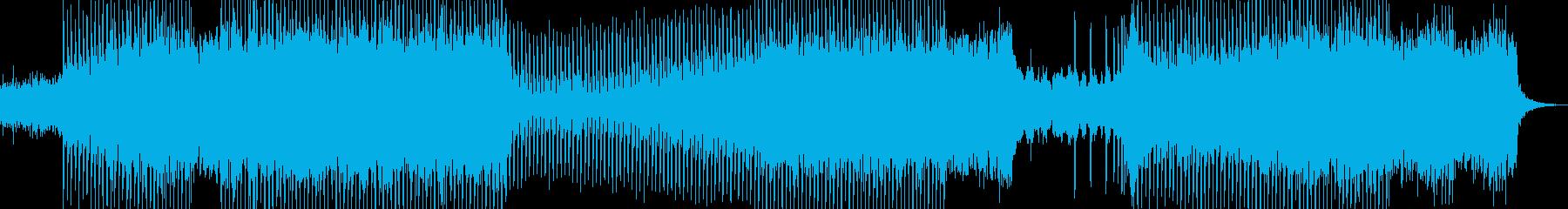青をイメージした綺麗な王道トランスの再生済みの波形