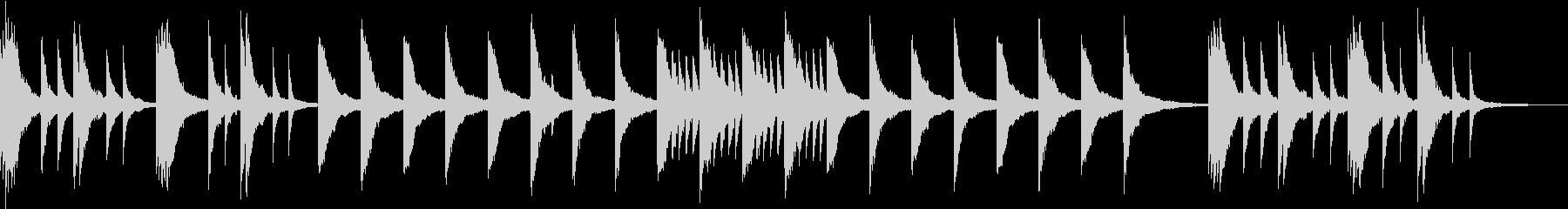 物憂げな日常のイメージのピアノBGMの未再生の波形
