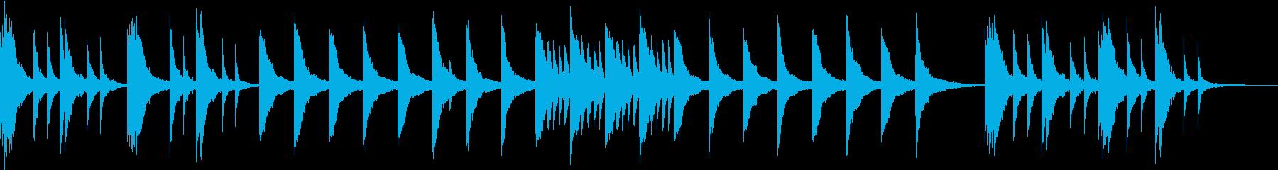 物憂げな日常のイメージのピアノBGMの再生済みの波形