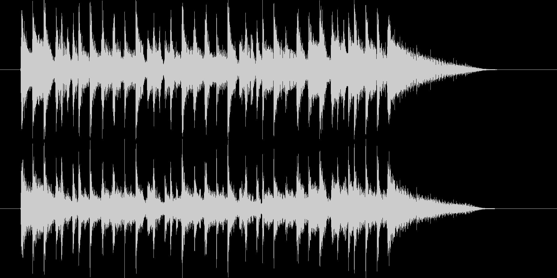 爽やかなポップスによるジングル曲の未再生の波形