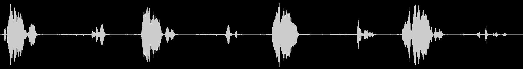 ポーチスイングキーキーイング(高速)の未再生の波形
