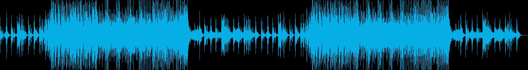 尺八から始まる三味線の和風BGMの再生済みの波形