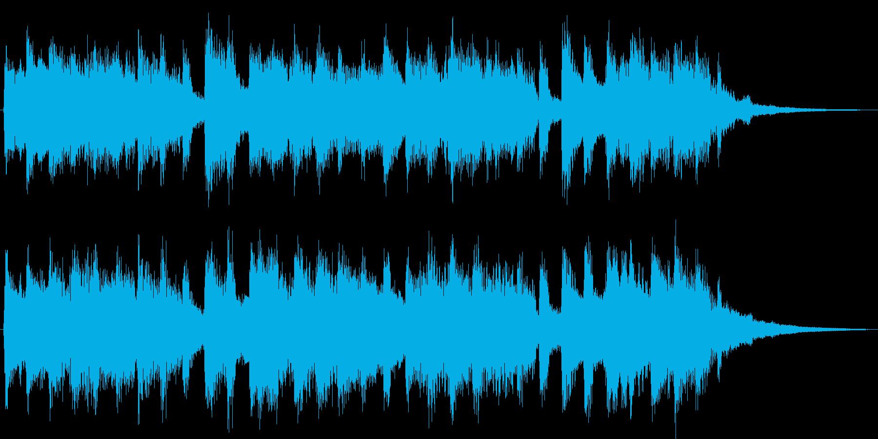 チヤフルなベルが印象的なジングルの再生済みの波形