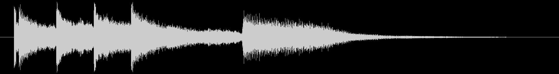 ピアノ ジングル 場面転換 2の未再生の波形