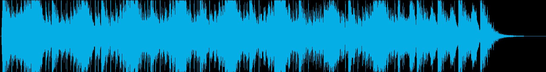 緊迫したインストの再生済みの波形