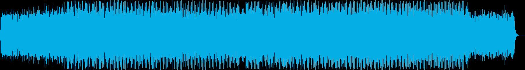 浮遊感のあるテクノポップの再生済みの波形