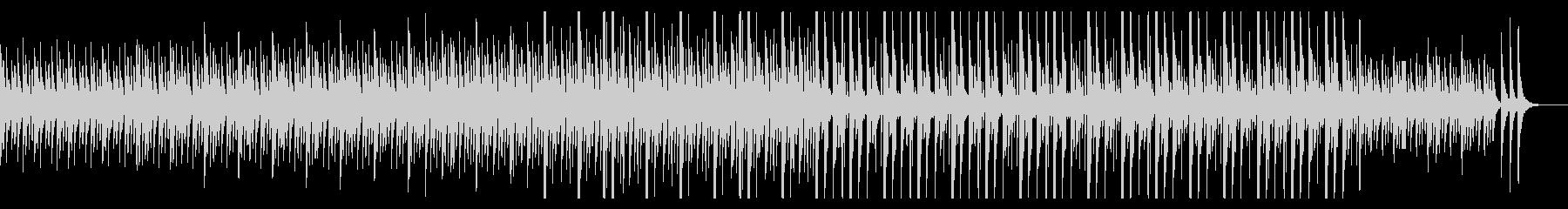 独特なリズムで可愛いらしいメロディーの未再生の波形
