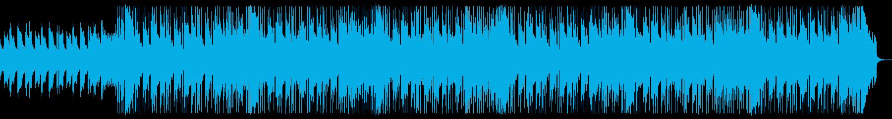 ピアノ中心の明るく爽やかなバンドBGMの再生済みの波形