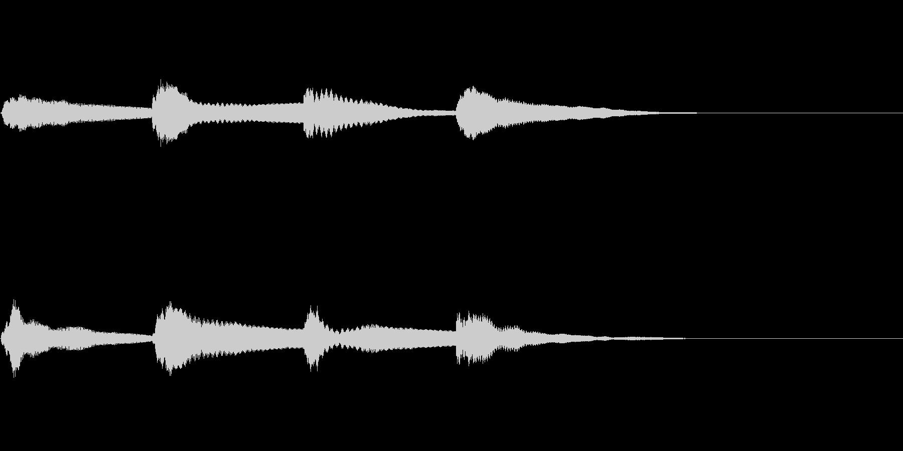 アナウンスのピンポンパンポンの音1 上昇の未再生の波形