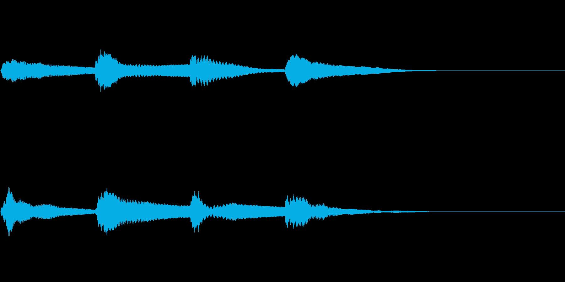 アナウンスのピンポンパンポンの音1 上昇の再生済みの波形