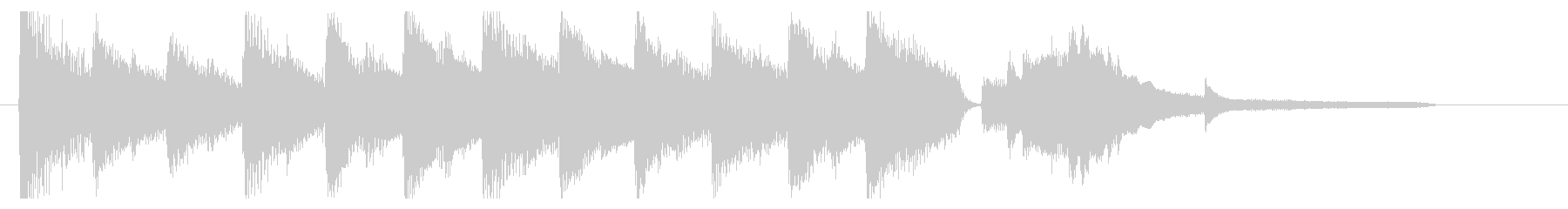 ピアノのジングル おとなしめの未再生の波形