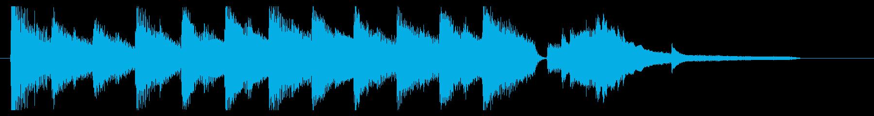 ピアノのジングル おとなしめの再生済みの波形