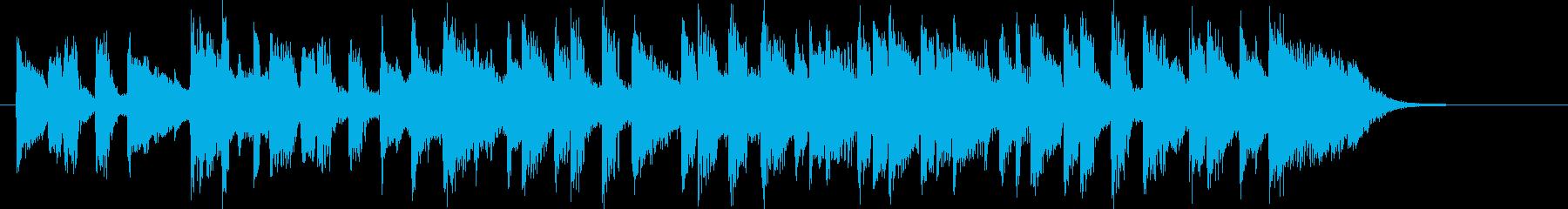 緩やかで軽やかなアコギジングルの再生済みの波形