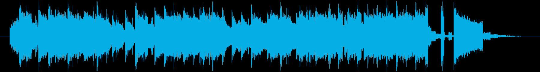 レトロゲーム風ピコピコなジングルの再生済みの波形