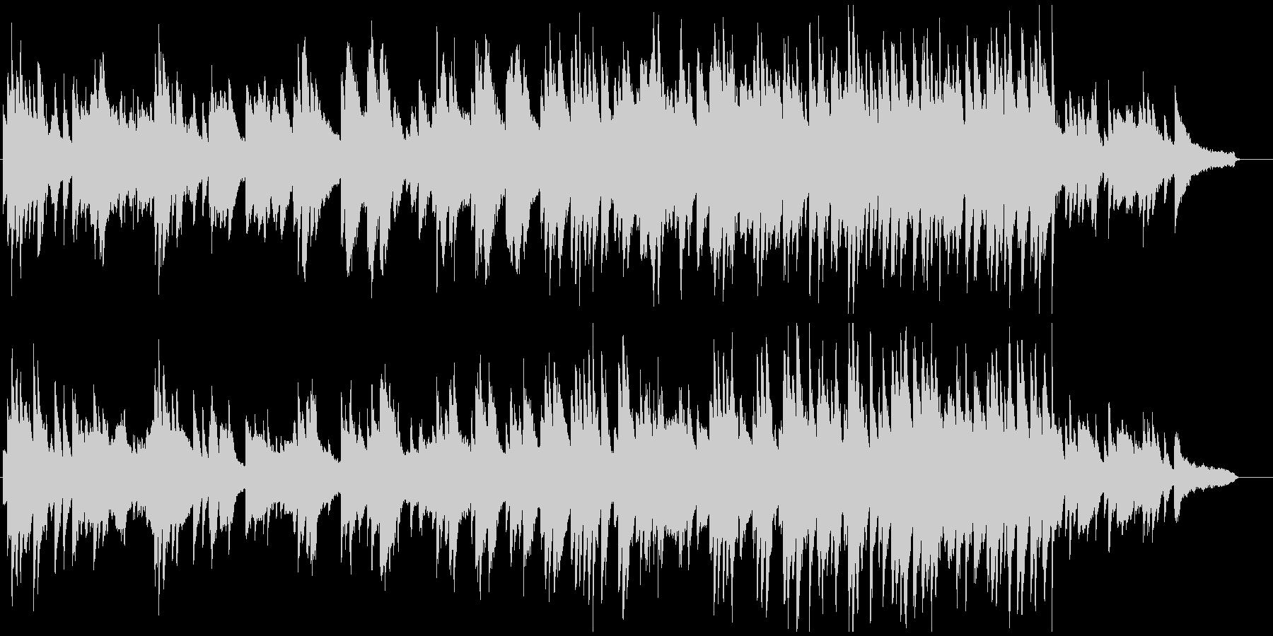 明るくゆったりとしたピアノソロの未再生の波形