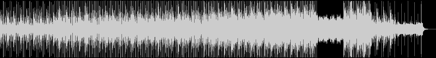 ハードなシンセサウンドとディープなビートの未再生の波形