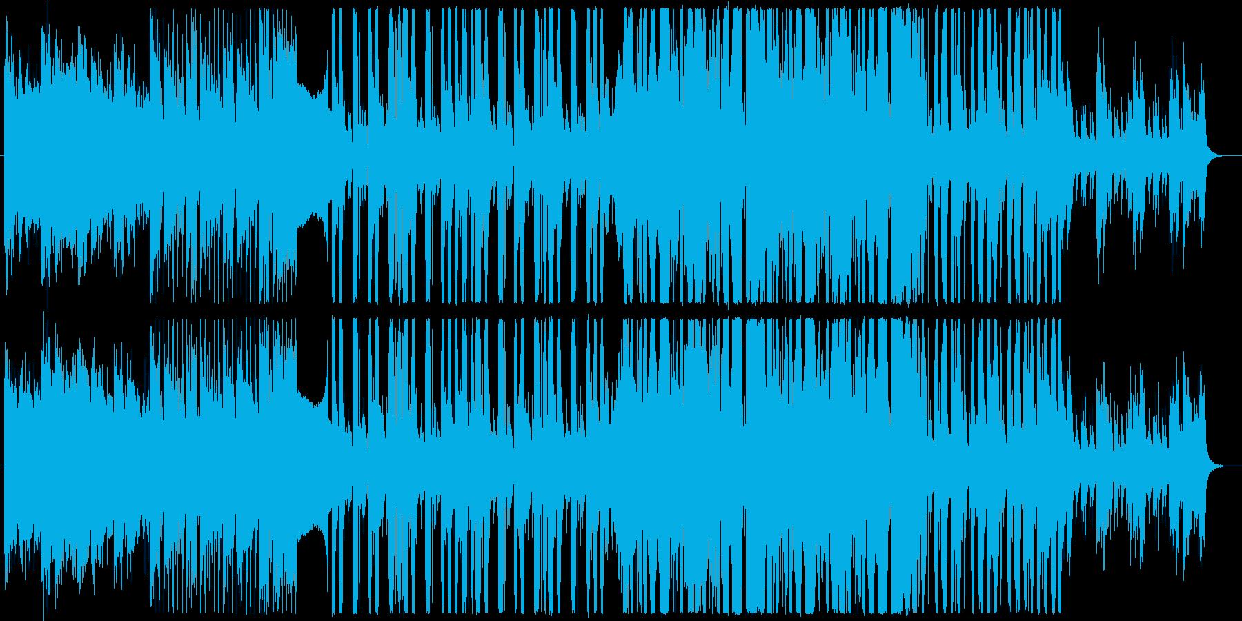 幾何学的なピアノと近未来クラブサウンドbの再生済みの波形