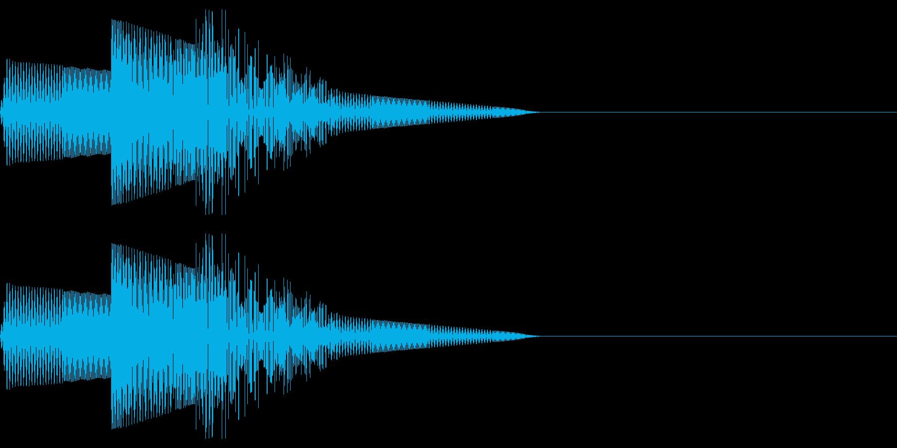 ピコン(選択/魔法/ファミコン/ピコピコの再生済みの波形