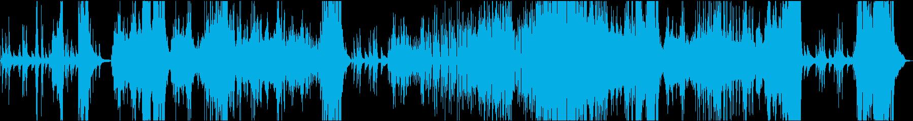 恐怖感を煽る無調のピアノ曲の再生済みの波形