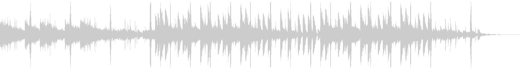 ドラムが印象的なネオソウルの未再生の波形
