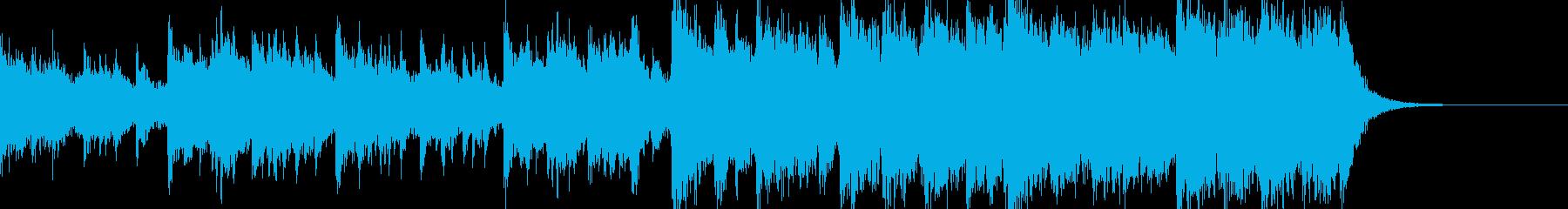 トレーラー映像などに使えそうなBGMの再生済みの波形