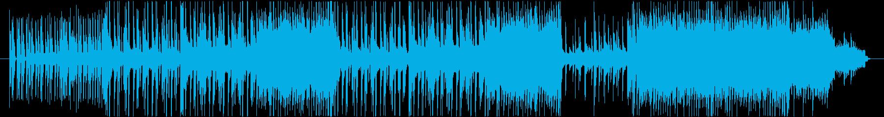 近未来感とレトロ要素が混じったテクノ音楽の再生済みの波形