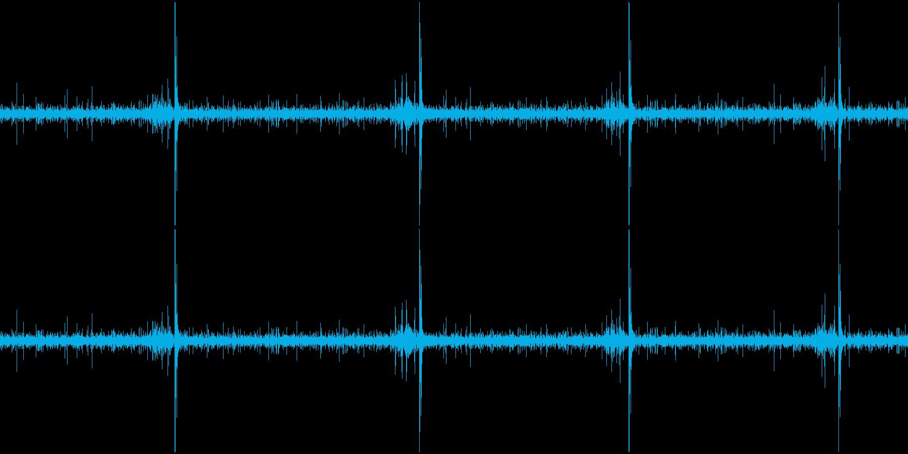 水流とししおどしの環境音(ループ)の再生済みの波形