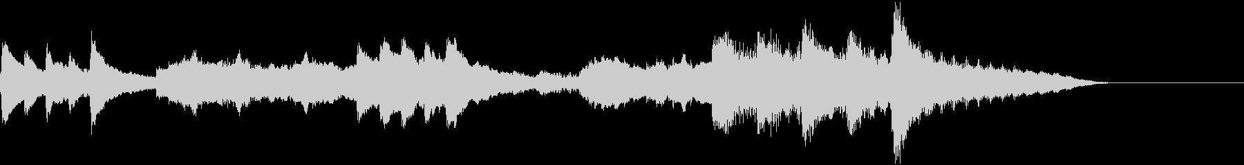 冬向けピアノとファゴットの深みあるBGMの未再生の波形