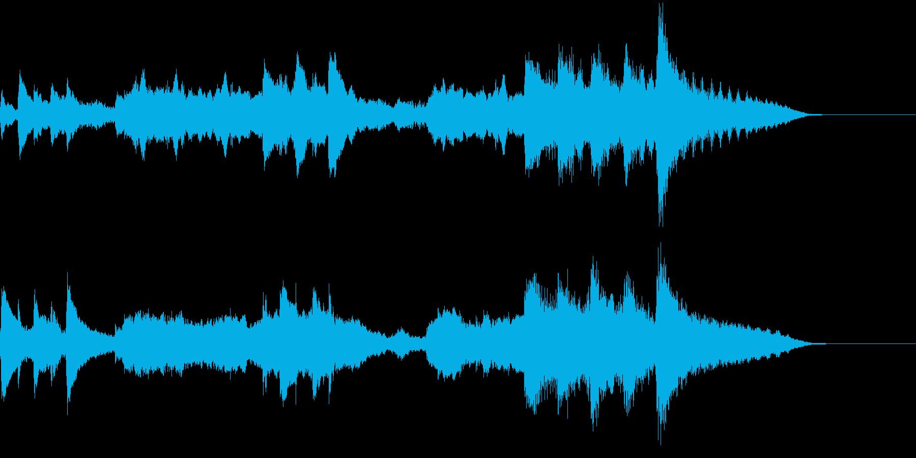冬向けピアノとファゴットの深みあるBGMの再生済みの波形