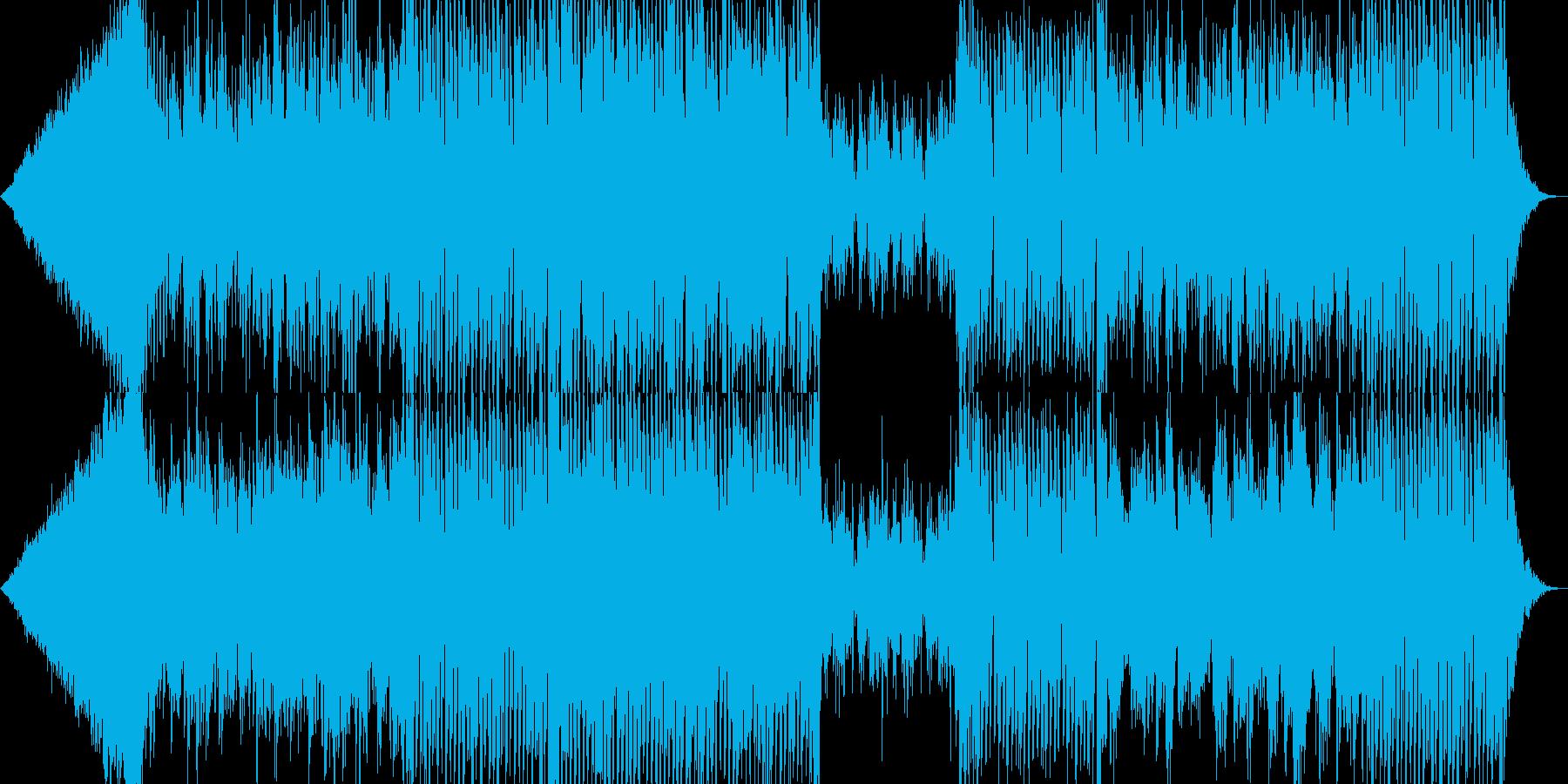 明るい雰囲気でお洒落なEDMの再生済みの波形