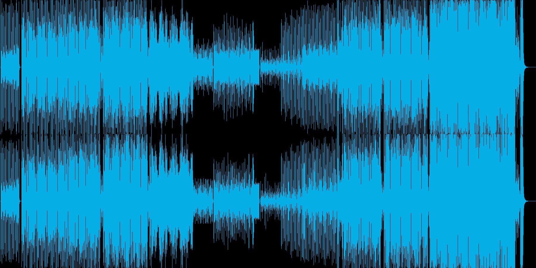 パーカッシブなダンス曲の再生済みの波形