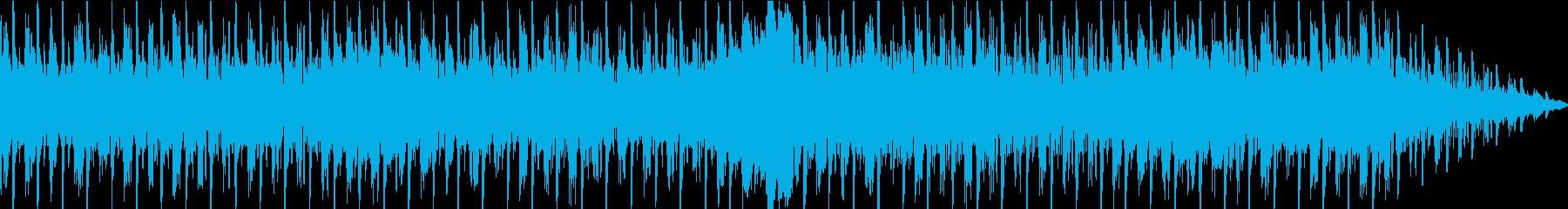 シンプルなリズムのダンスミュージックの再生済みの波形