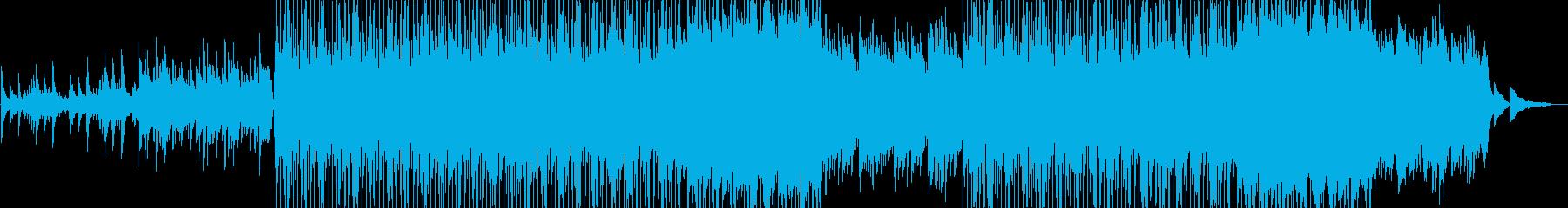 ピアノ主体の癒し系トラックの再生済みの波形