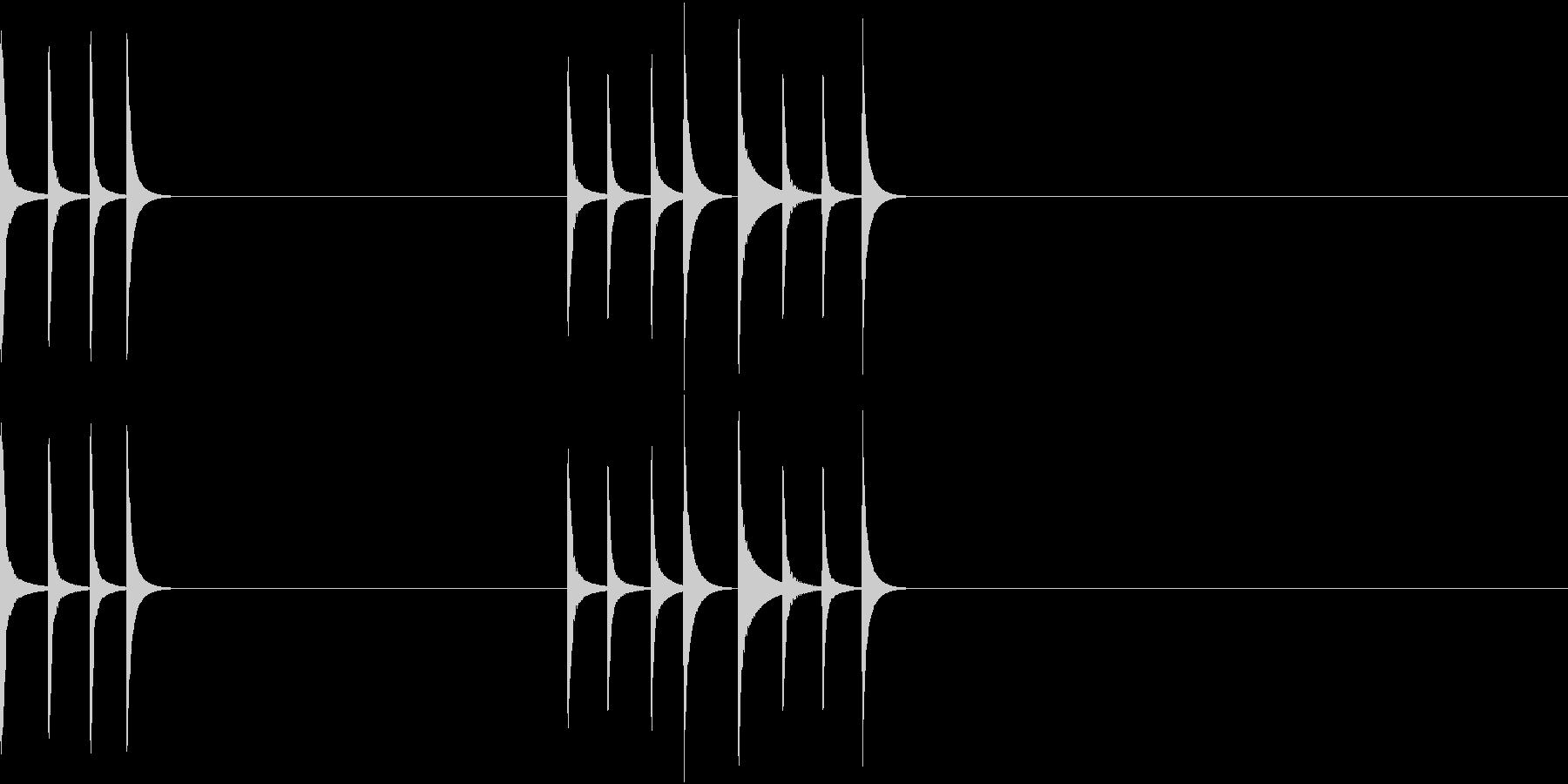 可愛らしいマリンバの通知音(長)の未再生の波形