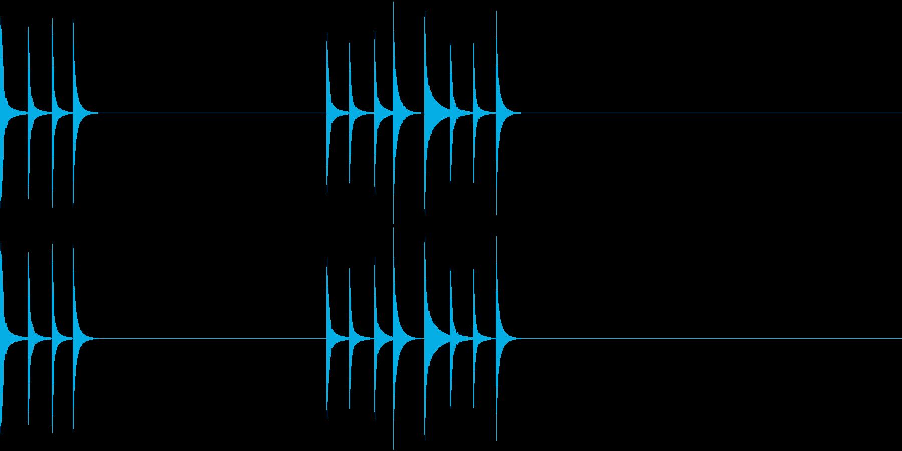 可愛らしいマリンバの通知音(長)の再生済みの波形