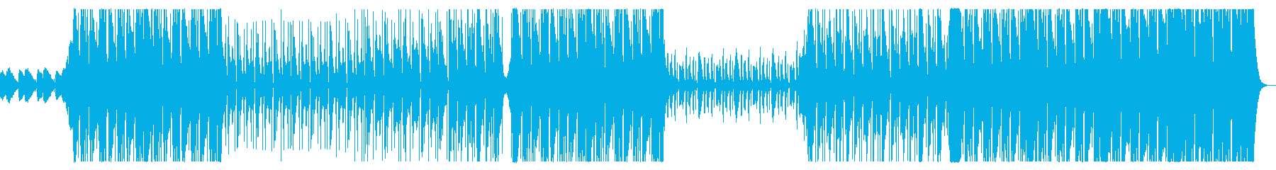 ダークでHipHopなビートの曲の再生済みの波形