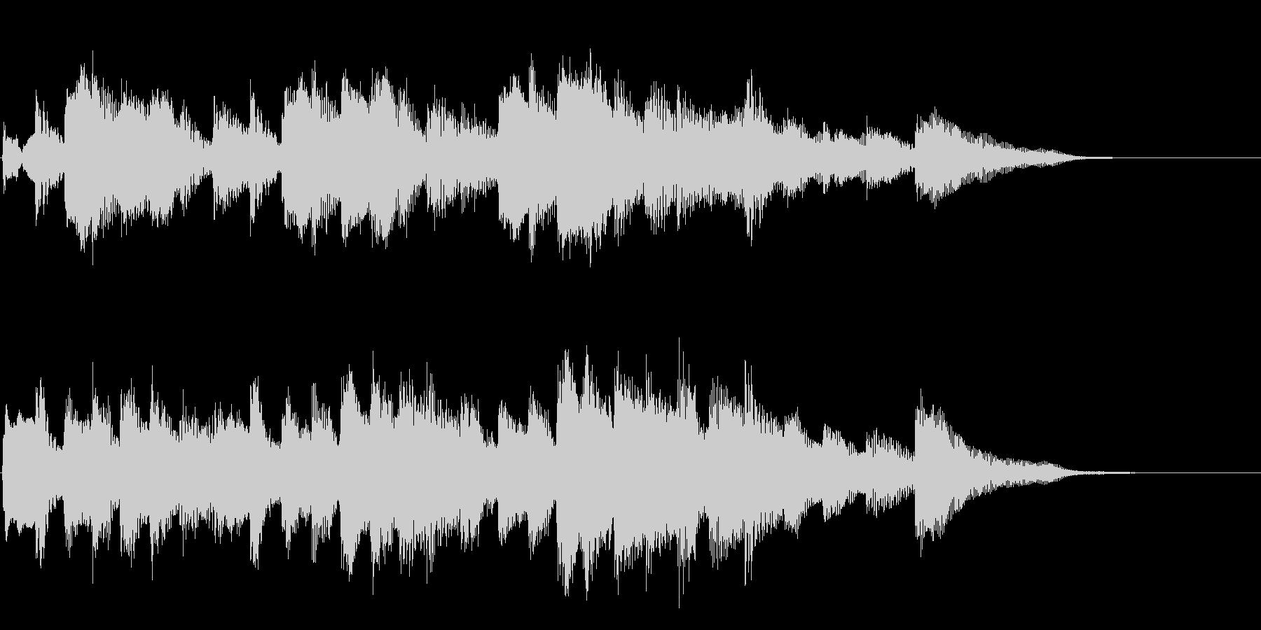 エチュードのような優しいピアノソロ12秒の未再生の波形
