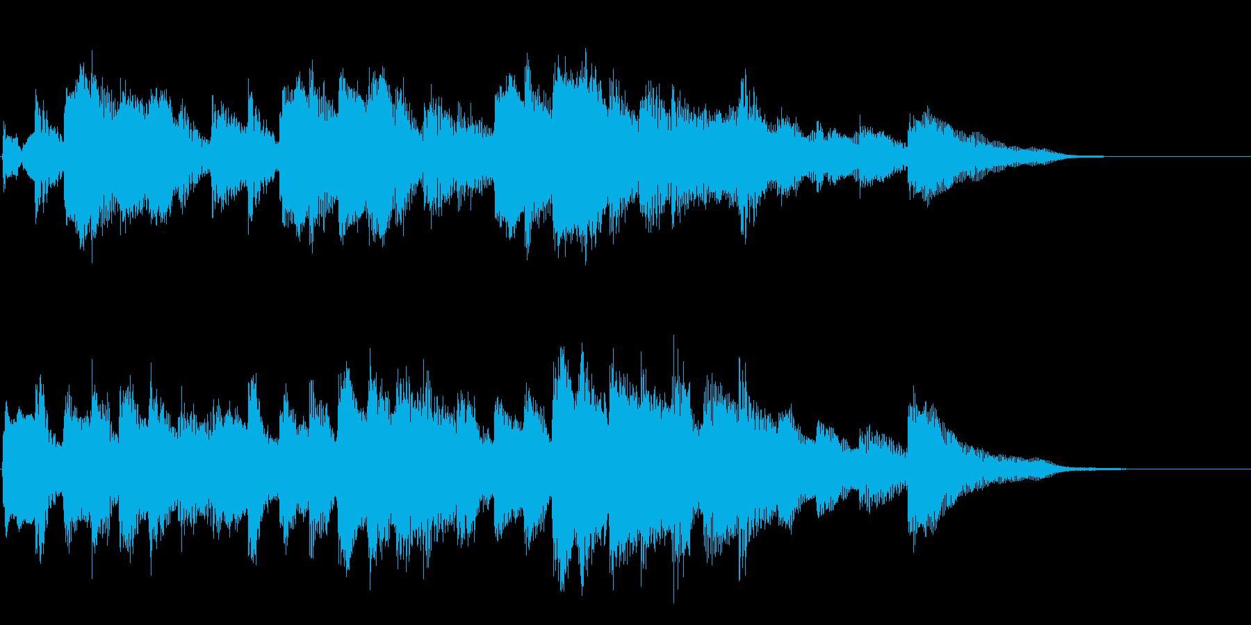 エチュードのような優しいピアノソロ12秒の再生済みの波形