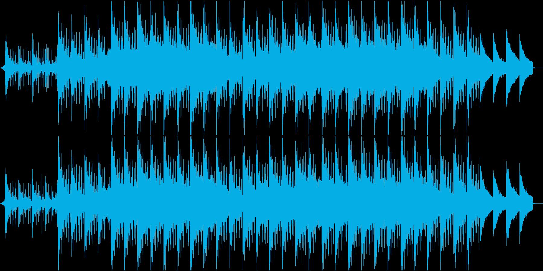 冬のサクラ、雪、初春のギターコーポレートの再生済みの波形