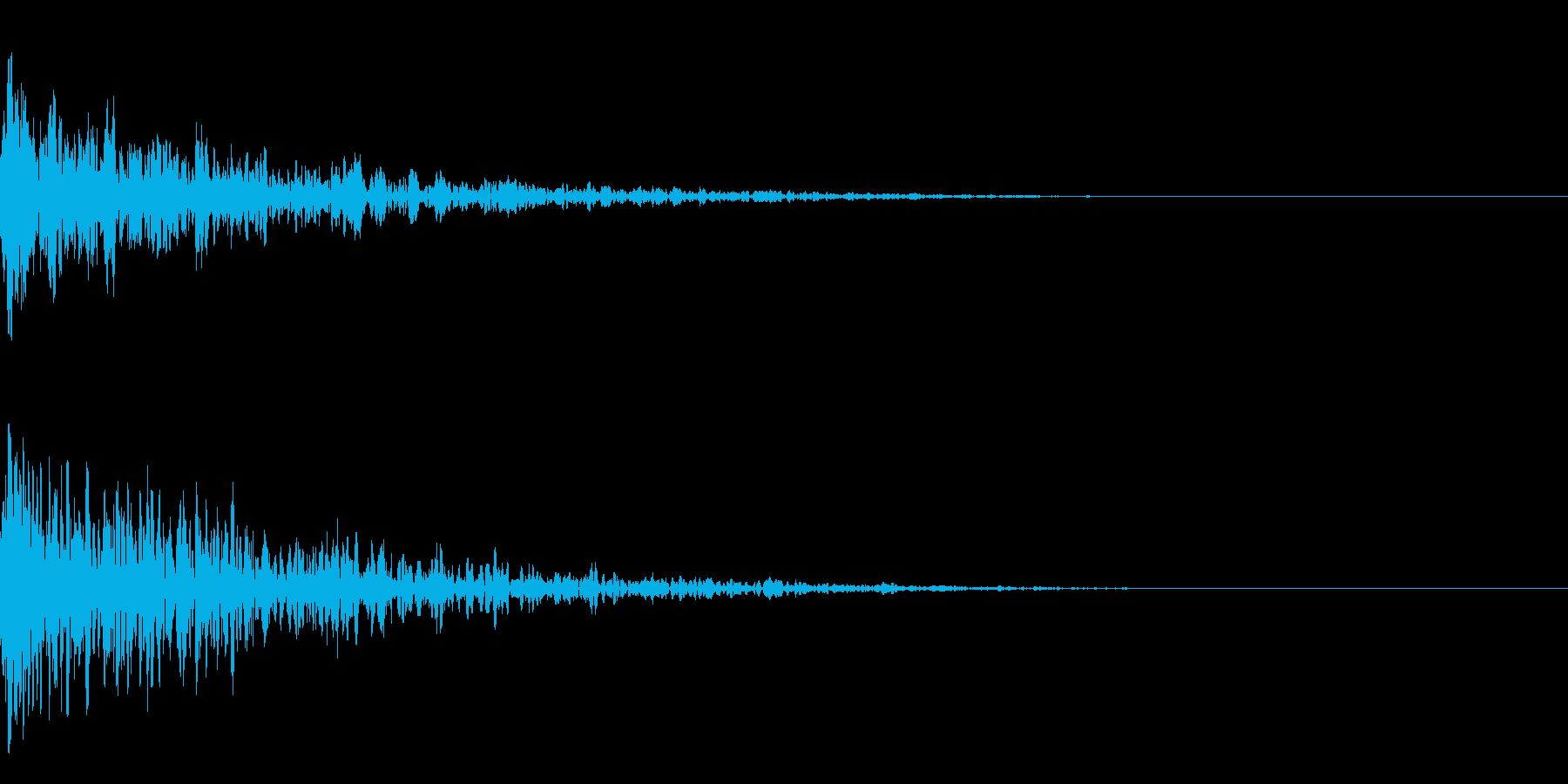 ドーン-08-1(インパクト音)の再生済みの波形