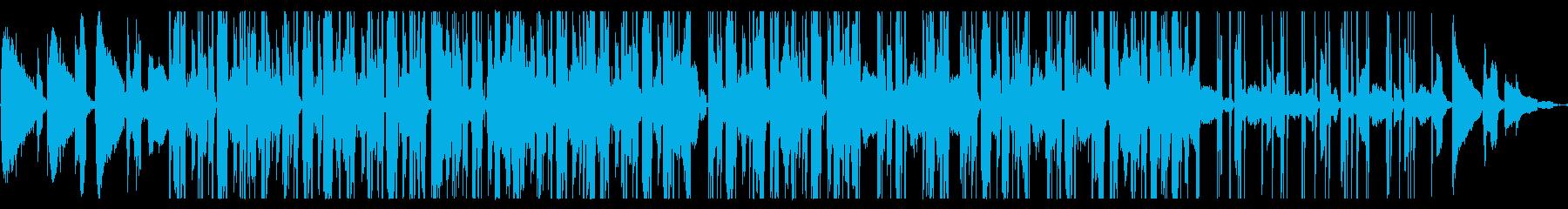 ヒップホップでレトロな曲の再生済みの波形