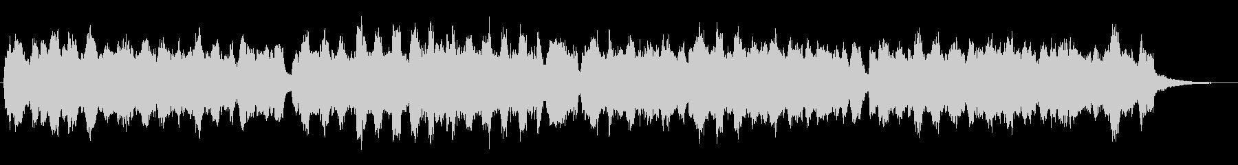 オルガンの音色が印象的な欧風なジングルの未再生の波形