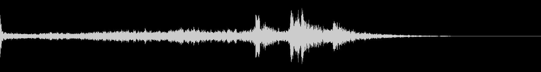 キーン(気配)の未再生の波形