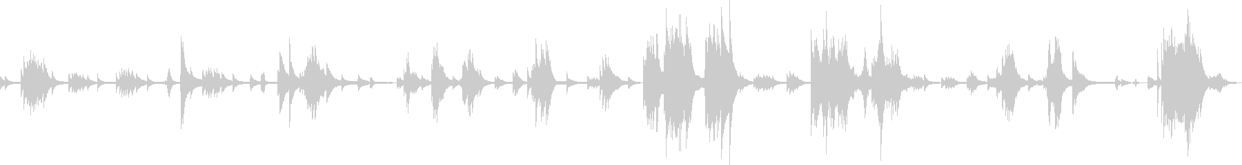 絶望の果て(ピアノ)の未再生の波形