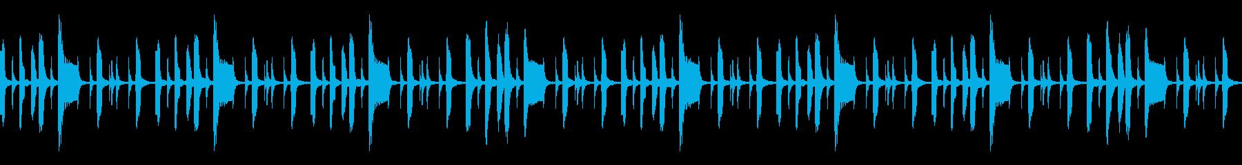 日常的なシーンに合いそうなほのぼのBGMの再生済みの波形